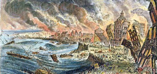 Lisbon Earthquake, 1755 Painting; Lisbon Earthquake, 1755 Art Print for sale